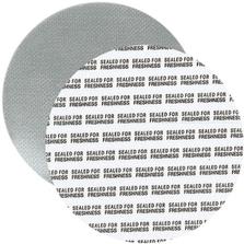 """83mm Foil Pressure Sensitive Liner, """"Sealed for Freshness"""" in Black (Uni-Foam™ PS-F1)"""