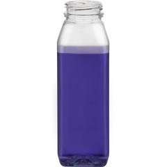 8 oz. Clear PET Plastic Tamper Evident WH Square Bottle, 38mm 358DBJ
