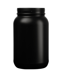 1 Gallon Black HDPE Plastic Wide Mouth Jar, 120mm 120-400, 120 Grams