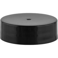 33mm 33-400 Black Smooth Plastic Cap, Unlined
