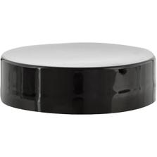 38mm 38-400 Black Smooth Plastic Cap w/PS22 Liner (Printed)