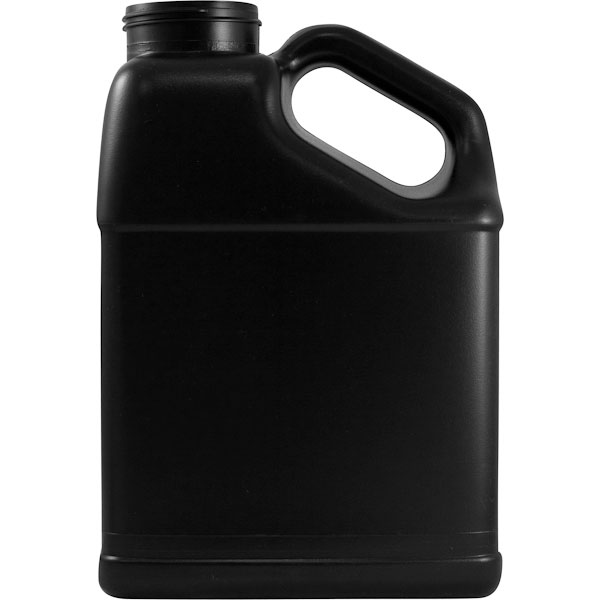 1 gallon black hdpe plastic slant f style bottle 63mm 63 485 for Motor oil 55 gallon drums wholesale