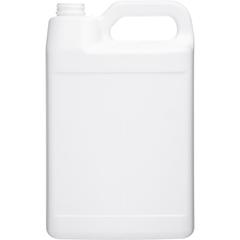 1 Gallon White HDPE Plastic F-Style Bottle, 38mm 38-400, Bulk Pack