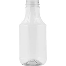 16 oz. Clear PET Plastic Sauce Decanter Bottle, 38mm 38-400