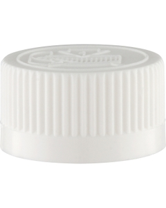 24mm 24-400 White Child Resistant Cap (Pictorial)
