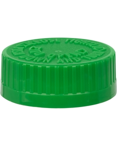 38mm 38-400 Green Child Resistant Vented Cap (PDT) w/Dual Liner (Lift N' Peel HIS & Foam)