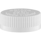 38mm 38-400 White Child Resistant Safe-Cap I (PDT) w/Foam Liner (3-ply)