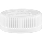 38mm 38-400 White Child Resistant Cap (Pictorial) w/PS22 Liner (Printed)