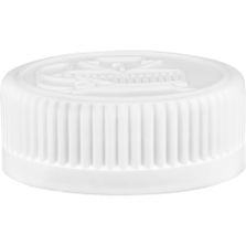 38mm 38-400 White Child Resistant Cap (Pictorial) w/Universal HIS TE Liner