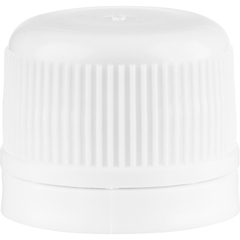 20mm Drop-Lok® White Ribbed Plastic Cap
