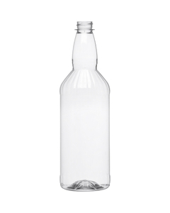 1 Liter Clear PET Plastic Mixer Bottles, 28mm 28-400