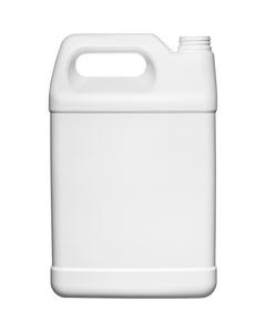 1 Gallon White HDPE Plastic F-Style Bottle, 38-400, 140 Grams