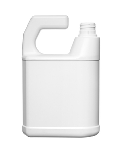 32 oz. White HDPE Plastic F-Style Bottle w/28mm, Ratchet Neck for Hose End Sprayer, 70 Grams