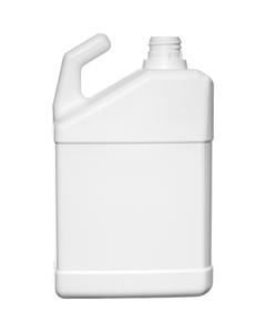 32 oz. White HDPE Plastic Slant F-Style Bottle w/28mm, Ratchet Neck for Hose End Sprayer, 74 Grams