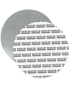 """53mm Foil Pressure Sensitive Liner, """"Sealed for Freshness"""" in Black (Uni-Foam™ PS-F1)"""