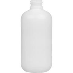 8 oz. Natural HDPE Plastic Boston Round Bottle, 24mm 24-410