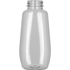 12 oz. Clear PET Plastic Clark Oblong Bottle, 38mm 38-400