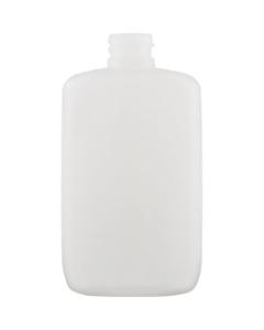 8 oz. Natural HDPE Plastic Oval Bottle, 24mm 24-410, 24 Grams