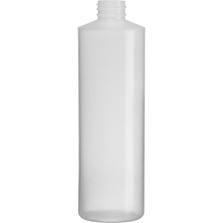 16 oz. Natural LDPE Plastic Cylinder Bottle, 28mm 28-410