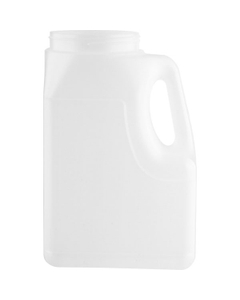 164 oz. Natural HDPE Plastic Oblong Jar with Handle, 110mm 110-400