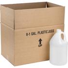 1 Gallon Natural HDPE Plastic Round Jug, 38mm 38-400, 120 Grams, 6x1 Reshipper Carton