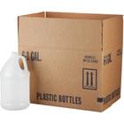 1 Gallon Natural HDPE Plastic Round Jug, 38mm 38-400, 6x1 Reshipper Carton