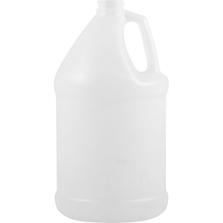 1 Gallon Natural HDPE Plastic Round Jug, 38mm 38-400, 160 Grams