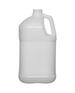 1 Gallon Natural HDPE Plastic Square Jug, 38mm 38-400, 120 Grams