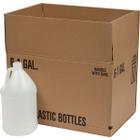 1 Gallon Natural HDPE Plastic Round Jug (130 Gram), 38mm Drop-Lok, 6x1 Reshipper Box