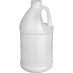 1/2 Gallon Natural HDPE Plastic Round Jug, 38mm 38-400