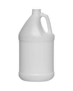 1 Gallon Natural HDPE Plastic Round Jug, 38mm 38-400, 120 Grams