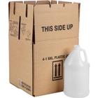 1 Gallon Fluorinated Natural HDPE Plastic Round Jug, 38mm 38-400, UN Rated, 120 Grams, 4x1 Reshipper Box