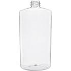 16 oz. Clear PET Plastic Oval Bottle, 28mm 28-410