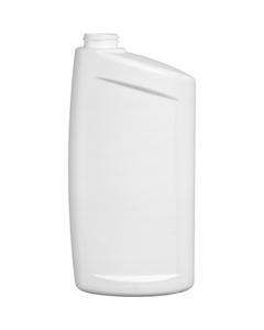 32 oz. White HDPE Plastic Offset Neck Bottle, 33mm 33-400