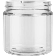 4 oz. Clear PET Plastic Wide Mouth Jar, 58mm 58-400