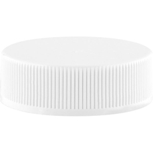 33mm 33-400 White Ribbed (Smooth Top) Plastic Cap w/PS22 Liner (Printed)