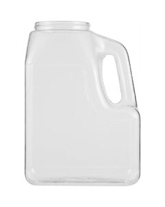 64 oz. Clear PVC Plastic Multi-use Oblong Jar with Handle, 70mm 70-400