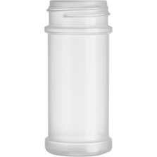 3.5 oz. Natural PP Plastic Spice Jar, 43mm 43-485