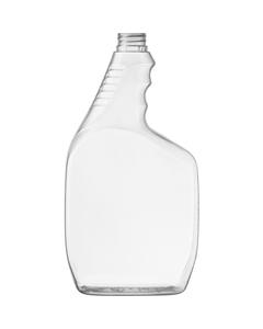 32 oz. Clear PVC Plastic Trigger Spray Bottle, 28mm 28-400 Ratchet Neck