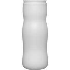 24 oz. Natural HDPE Peapod Canister Jar, 63mm Snap Thread