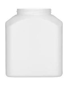 31 oz. White HDPE Rectangle Jar, 70mm 70-400