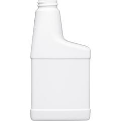 8 oz. Fluorinated Level 5 White HDPE Plastic RTU Bottle, 28mm 28-400