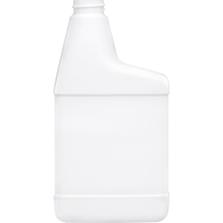 16 oz. White HDPE Plastic RTU Spray Bottle, 28mm 28-400