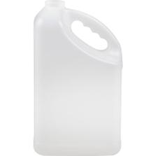 1 Gallon Natural HDPE Plastic Slant F-Style Bottle, 38mm 38-400