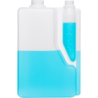 2 Liter Natural HDPE Plastic Bettix Twin Neck Bottle with 4 oz. Dosage Chamber, 38mm & 28mm