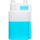 32 oz. Natural HDPE Plastic Bettix Twin Neck Bottle with 1 oz. Dosage Chamber