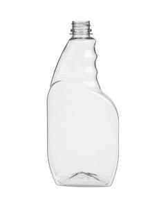 23 oz. Clear PET Plastic Trigger Spray Bottle, 28mm 28-400 Ratchet Neck