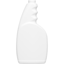 23 oz. White HDPE Plastic Trigger Spray Bottle, 28mm 28-400