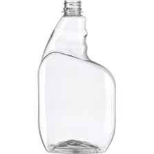 32 oz. Clear PET Plastic Trigger Spray Bottle, 28mm 28-400