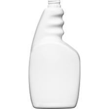 32 oz. White HDPE Plastic Trigger Spray Bottle, 28mm 28-400 Ratchet Neck